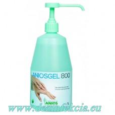 Aniosgel – 1литър с дозатор за дезинфекция на ръце и кожа.