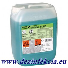 Инцидин Плюс е концентриран препарат за почистване и дезинфекция на повърхности